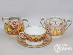 Три предмета из чайного набора